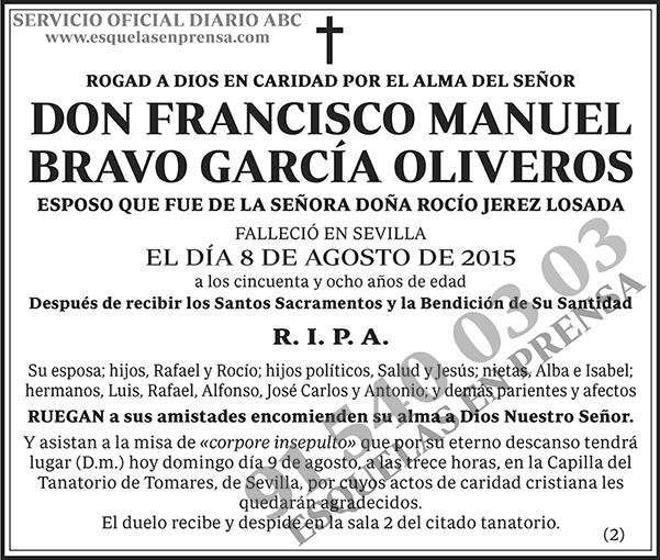 Francisco Manuel Bravo García Oliveros